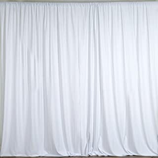 """lovemyfabric 100% Polyester Window Curtain/Stage Backdrop Curtain/Photography Backdrop 58"""" Inch X 120"""" Inch(Approx 5ft X 10ft) (1, White)"""
