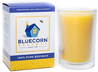 Bluecorn Beeswax 8.5oz 100% Pure Raw Beeswax Glass Candle (6, Clear)