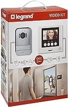 Legrand video-deurintercom met 2-draads aansluiting, kleurenmonitor en groothoekcamera, 4,3 inch (Weiß), grijs