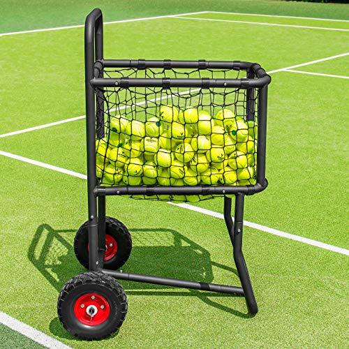 Vermont Carro Portapelotas de Tenis/Pádel/Béisbol – Carrito de Acero con Capacidad de...
