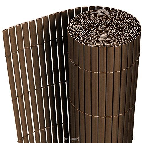 [neu.haus] PVC Sichtschutzmatte 90x300cm braun Sichtschutz Windschutz Gartenzaun Balkon Umspannung Zaun