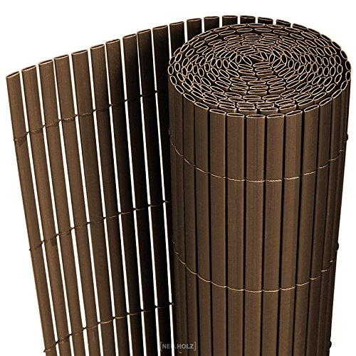 [neu.haus] PVC Sichtschutzmatte 150x300cm braun Sichtschutz Windschutz Gartenzaun Balkon Umspannung Zaun