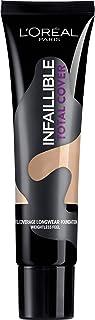 L'Oréal Paris Total Cover, Base Maquillaje Cobertura Total, Tono de Piel Medio 30 Miel - 35 gr