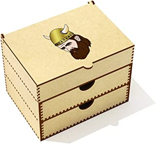 Azeeda  Viking Head  Vanity Case Makeup Box  VC00020559