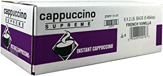 French Vanilla Instant Cappuccino Mix,Pack of 6