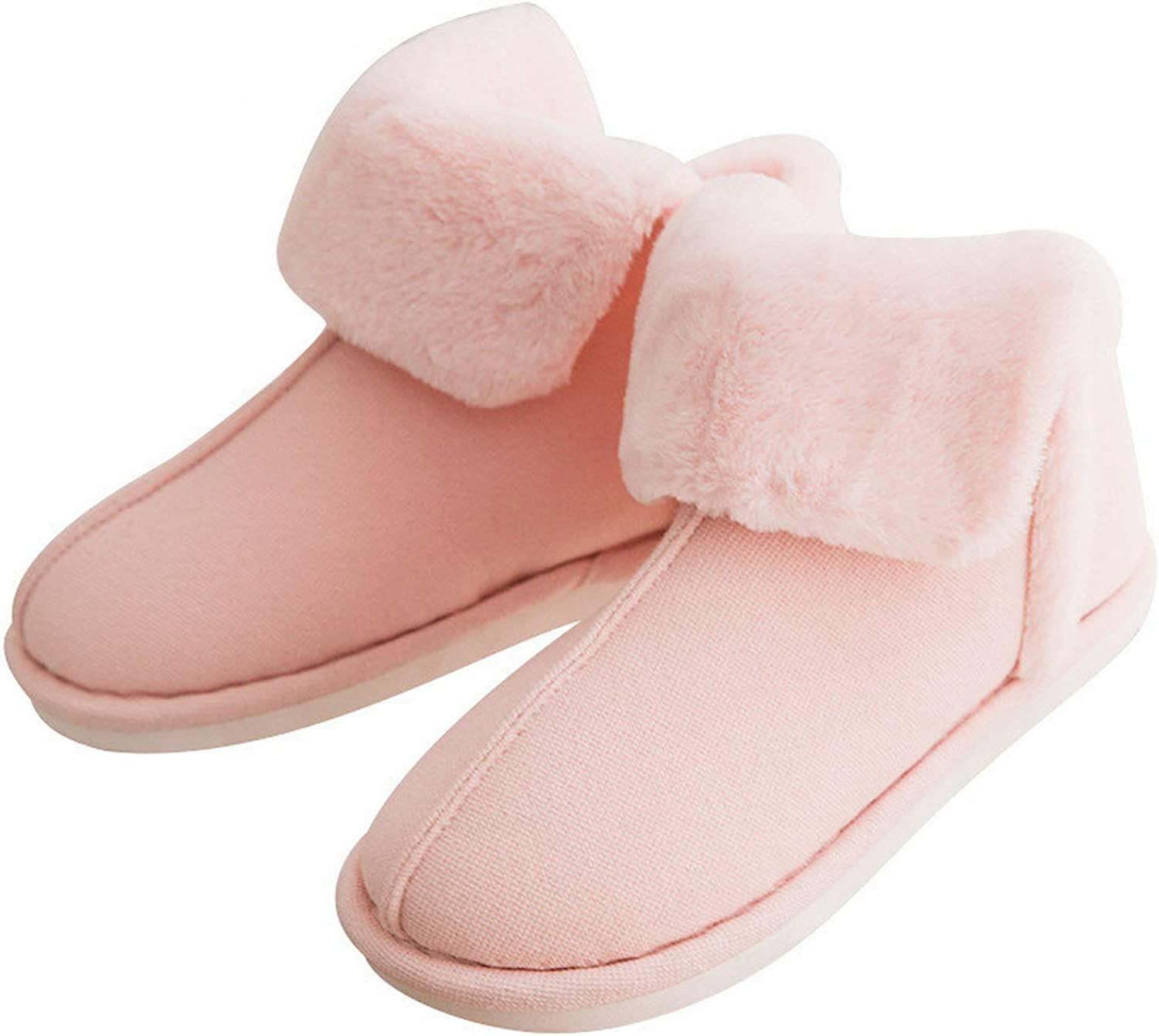 Together to create a miracle Women Indoor Slippers Winter Warm Plush Home Faux Fur Slip-On Cotton Fake Rabbit Hair shoes