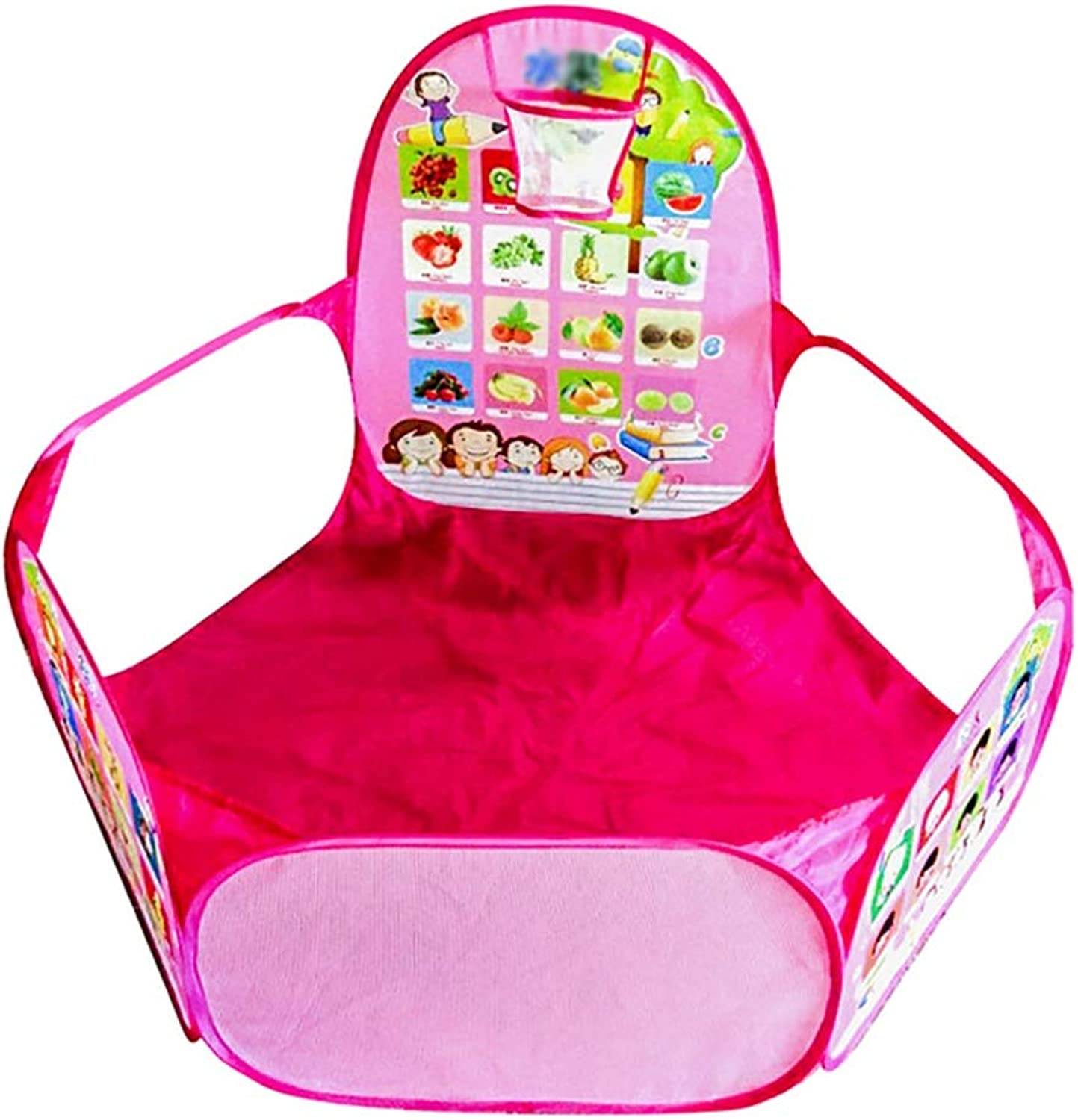 Baby Playpen Portable Activity Center Playard Indoor and Outdoor Play on the Go Nursery Center Play Yard (color   pink red)