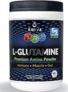 Sponsored Ad - Eniva L-Glutamine Powder, 1.1-Pound, MAX Value 5000MG, 101 Servings. Micronized. Gluten Free. Non-GMO. Soy ...
