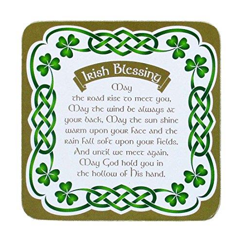 Royal Tara Irish Celtic Coaster with an Irish Blessing and Shamrock Design