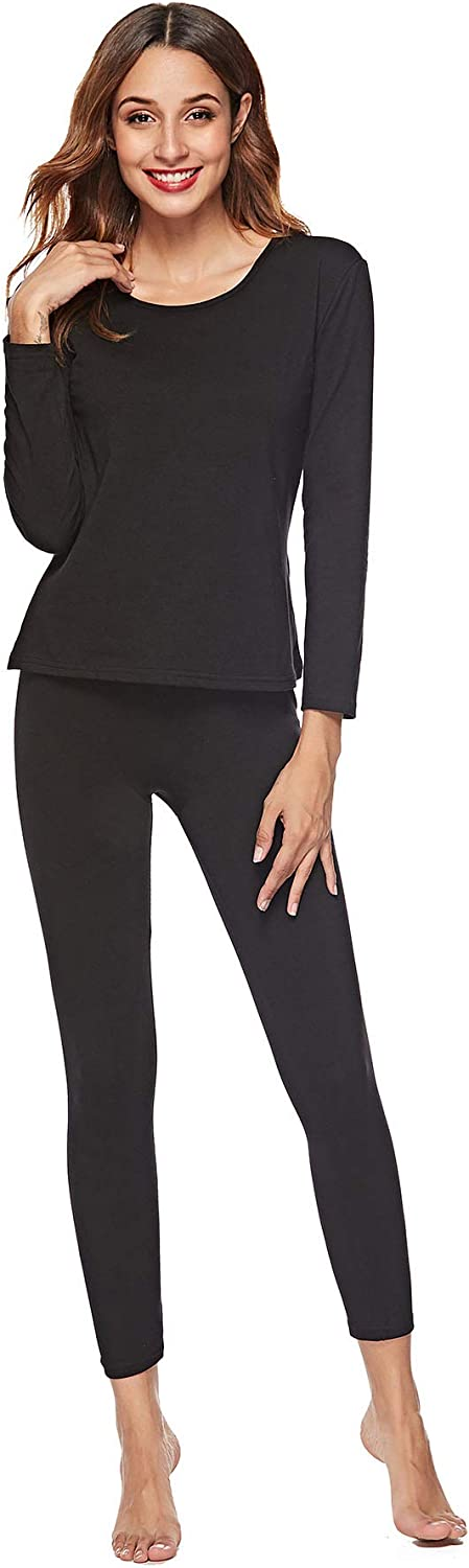 EFINNY Thermal Underwear for Women Lady Long Johns Set Top and Bottom Ultra Soft Smooth Pjs