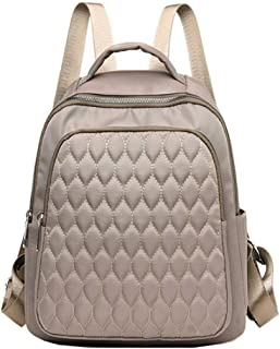 Fresh wild simple fashion Lightweight Nylon Backpack Waterproof Multi-Layer Shoulder Bag School Bag (Color : Black, Size :...
