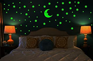 Monk Wish Galaxy of Stars Radium Glow in The Dark Wall Sticker (Vinyl, Green)