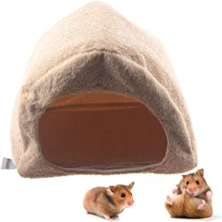 Hamster Rat Cute Hideout House Toys Small Animal Habitat Decor Winter Warm Cage Hanging Bed