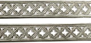 Kunze Dresden Trim Border Gothic Quadrofoil Strips, 1/2-Inch, Silver