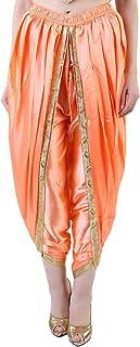 Khazana Basics Peach Satin Dhoti Pant, Patiala Dhoti Salwar for Women, Girls (JTDHS6301, Peach)