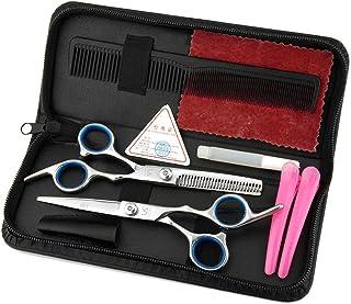KQS-XYT Forbici per capelli da parrucchiere Acconciatura in acciaio inox Forbici blu tagliare taglio piano tagliare Home Set di attrezzi di lavoro per il trucco pratico