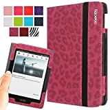 Kindle Voyage Case - Poetic Kindle Voyage Case [SlimBook Series] - [SlimFit] [Professional] PU Leather Slim Folio Case for Amazon Kindle Voyage Leopard Pattern (3 Year Manufacturer Warranty From Poetic)