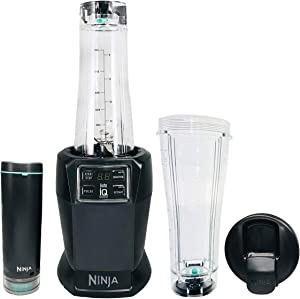 Nutri Ninja with FreshVac Technology Auto-iQ Smoothie Extract Start/Stop and Pulse Settings Powerful 1100 Motor Base BL580 (Renewed)