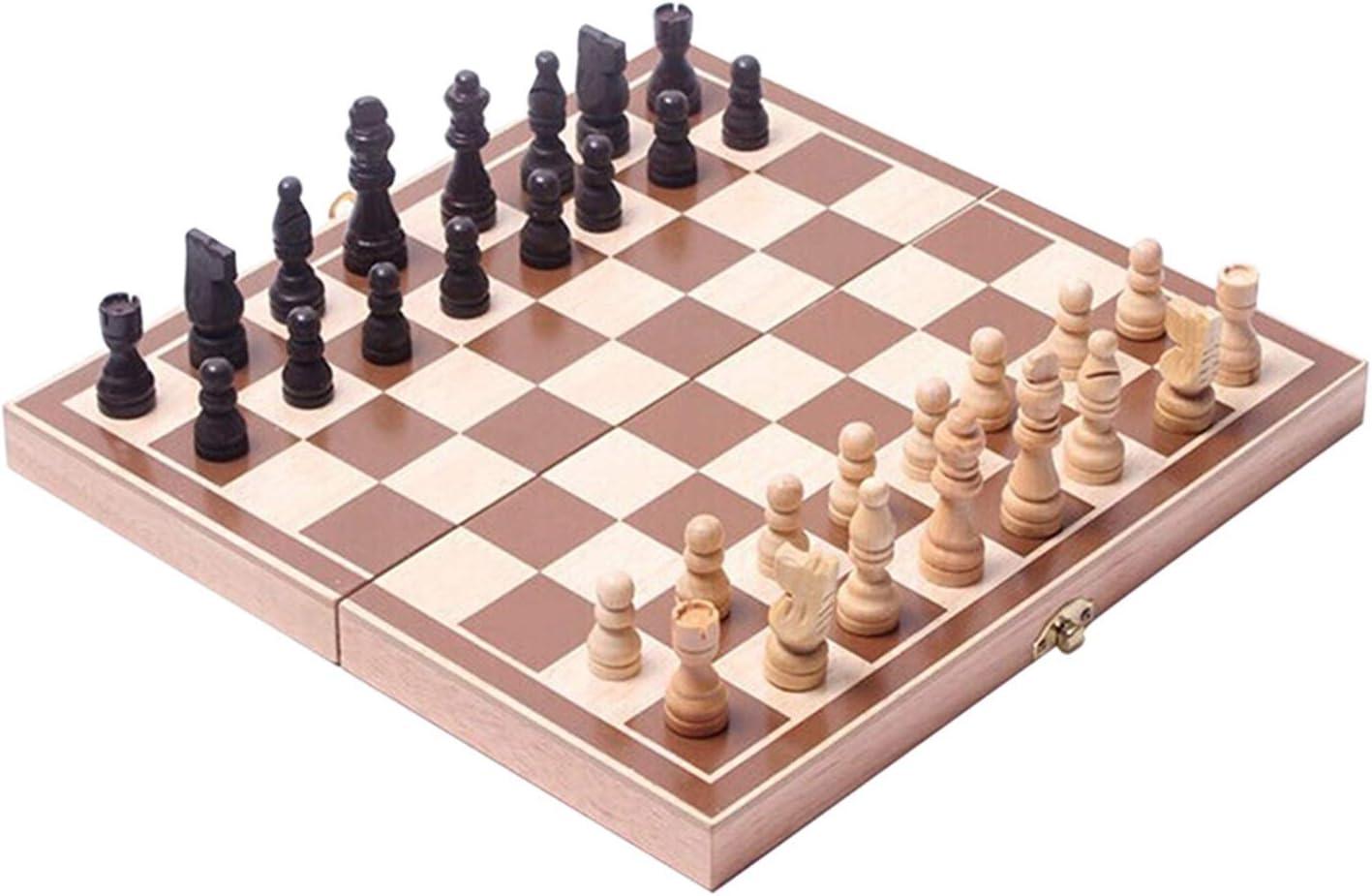 LWSJP Chess Wooden Folding Checker 5 ☆ popular Set International Games Max 52% OFF
