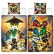 BERONAGE Lego Ninjago Kinder-Bettwäsche Ninja Cre