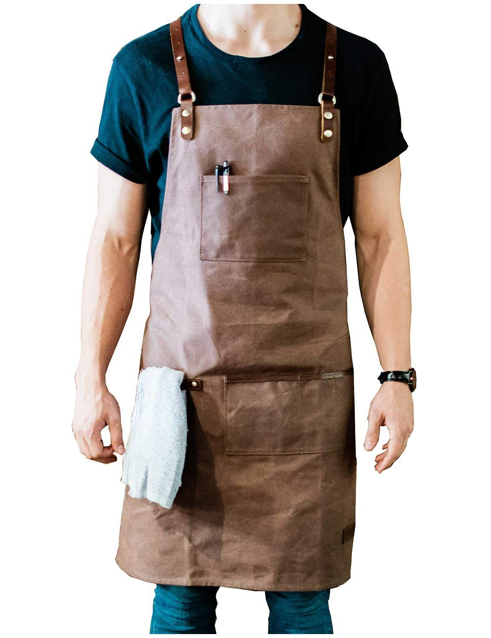 ApronMen   Leather and Canvas Adjustable Work Apron for Men  Buy ...