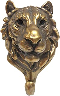 Pacific Giftware Wild Animal Head Single Wall Hook Hanger Animal Shape Rustic Faux Bronze Decorative Wall Sculpture (Tiger)