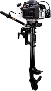 LEADALLWAY 4HP 4Stroke Outboard Motor Air Colling Boat Engine Inflatable Fishing Boat Motor Improved Model,black