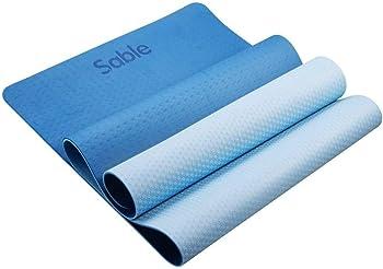 Sable High Density Non-Slip Exercise Yoga Mat (Blue)