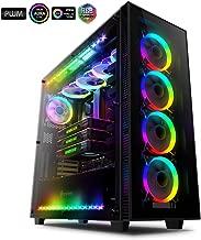 Anidees AI Crystal XL RGB V3 Full Tower Tempered Glass XL-ATX/E-ATX/ATX PC Gaming Case Support 480/360 Radiator, Includes 5 x 120 PWM RGB Fans / 2 x RGB LED Strips - Black AI-CL-XL-AR3 (PC Case ONLY)