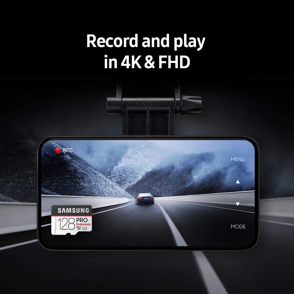 Samsung PRO Endurance 128GB 100MB//s U1 MicroSDXC Memory Card with Adapter MB-MJ128GA//AM