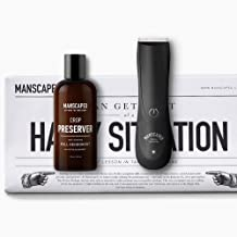 Manscaped Men's Grooming Kit, Includes Ergonomically Designed Powerful Waterproof Electric Manscaping Trimmer, Nuts and Bolts 2.0, and Crop Preserver Ball Deodorant, plus FREE Disposable Shaving Mats