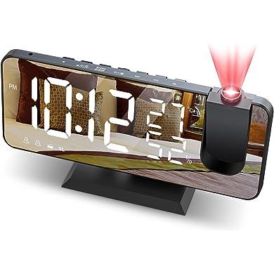 Despertador de Proyección 7 Pulgadas Radio