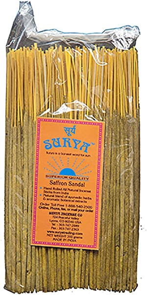 Saffron Sandal Incense Sticks Bundle From Surya Incense Company