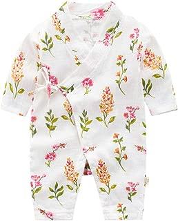 Baby Kimono Robe Infant Newborn Cotton Yarn Japanese Pajamas Romper One Piece Bodysuit Clothes