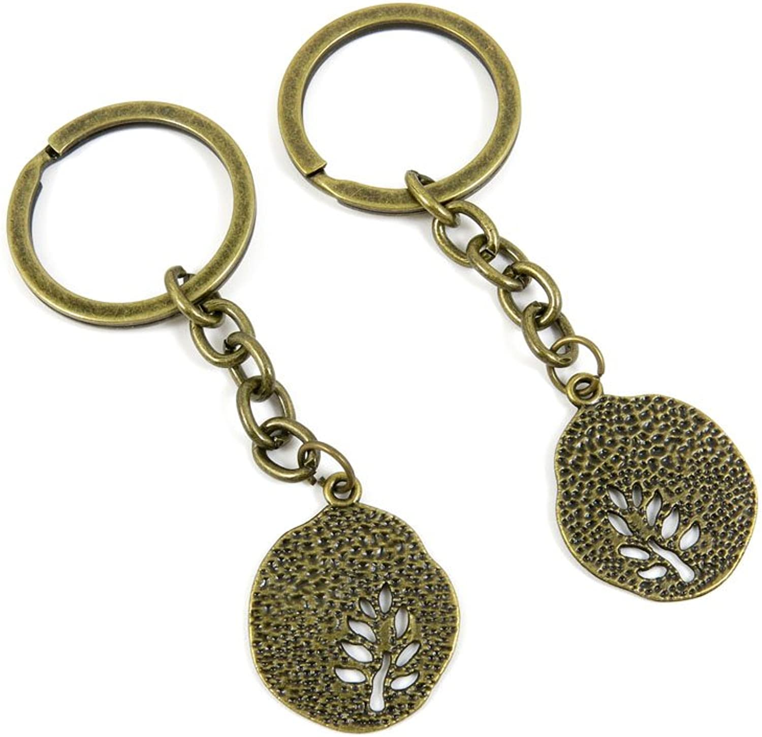 80 PCS Keyring Car Door Key Ring Tag Chain Keychain Wholesale Suppliers Charms Handmade H8BK8 Tree Signs