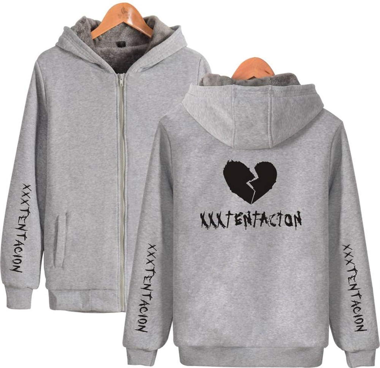 Casual Hooded Hooded Zipper Sweater Sweatshirt, Fashion LongSleeved Sweater Rapper Xxxtentacion Street Trend Plus Velvet Thick Zipper Hooded Sweater Unisex