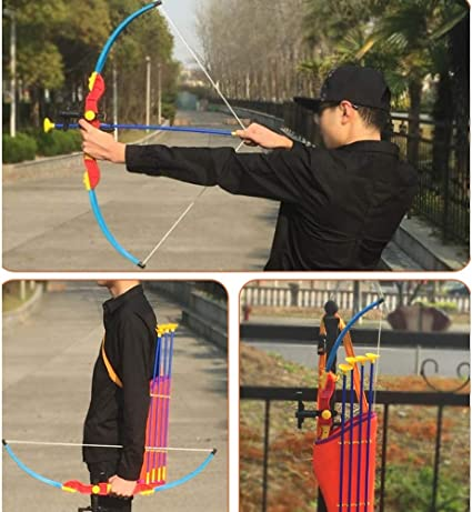 Amazon Com Mobeka Toy Bow And Arrow For Kids Outdoor Practice Toy Archery Set Target Stand Quiver Bow And 3 Arrows Color A Sports Outdoors As she groggily frees herself, she is. amazon com
