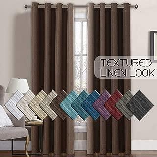 Best linen luxury textured faux linen drapery panels Reviews