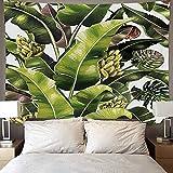 Tela para colgar con estampado de plantas tropicales, tapiz colgante de pared para el hogar nórdico, sala de estar, dormitorio, tela artística, tapiz para colgar en la pared A2 180X230CM