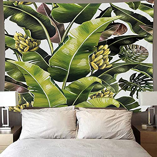 Tapiz con estampado de plantas tropicales para colgar en la pared, manta de tela de fondo nórdico, tapiz trasero para el hogar, sala de estar, dormitorio, A2 130X150CM