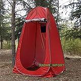 G.E. Tienda de campaña baño WC Ducha Vestuario Impermeable Camping desplegable Pop Up (Rojo)