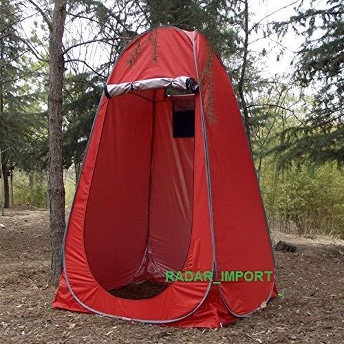 G.E. Pop Up Duschzelt fürs Badezimmer, wasserdicht, Camping, faltbar, rot