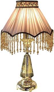 L.BAN Style européen Frange Luxueux Cristal Lampe de Table Luxueux Romantique lumière Chaude Chambre Chevet Villa Rose Lam...