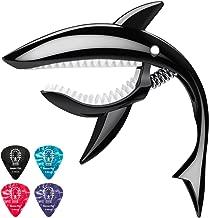 Donner Zinc Alloy Guitar Capo Shark Capo DC-4 for Ukulele, Mandolin, Electric Guitar and Bass, Black