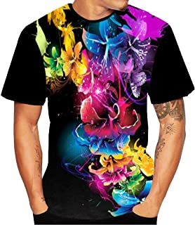 2019 New Mens Fashion 3D Printed Short-Sleeved T-Shirt(Multiple Patterns)