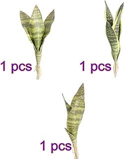 Takefuns - Planta Artificial de 3 Piezas de Sansevieria Trifasciata para decoración de casa, Oficina, jardín, como en la Imagen, B