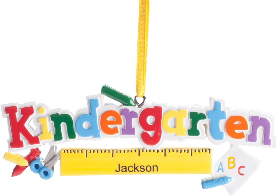 Fox Valley Traders Personalized Kindergarten Ornament