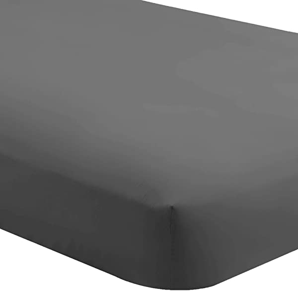 Bare Home Fitted Bottom Sheet Queen Premium 1800 Ultra Soft Wrinkle Resistant Microfiber Hypoallergenic Deep Pocket Queen Grey