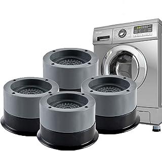 4Pcs Tapis Anti Vibration Machine a Laver, Patins Anti Vibration Lave Linge à Suppression des Chocs et du Bruit, Antidérap...