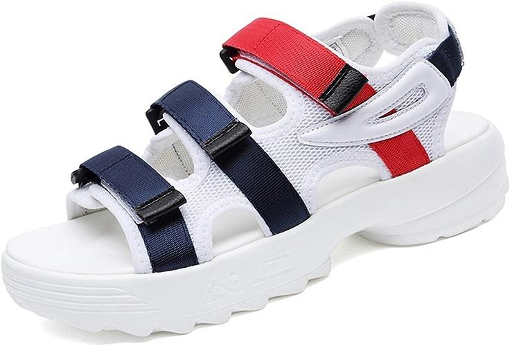 GTVERNH-Chaussures pour Femmes Open Toe Sandales De Sport Les étudiants D'été avec Rome.